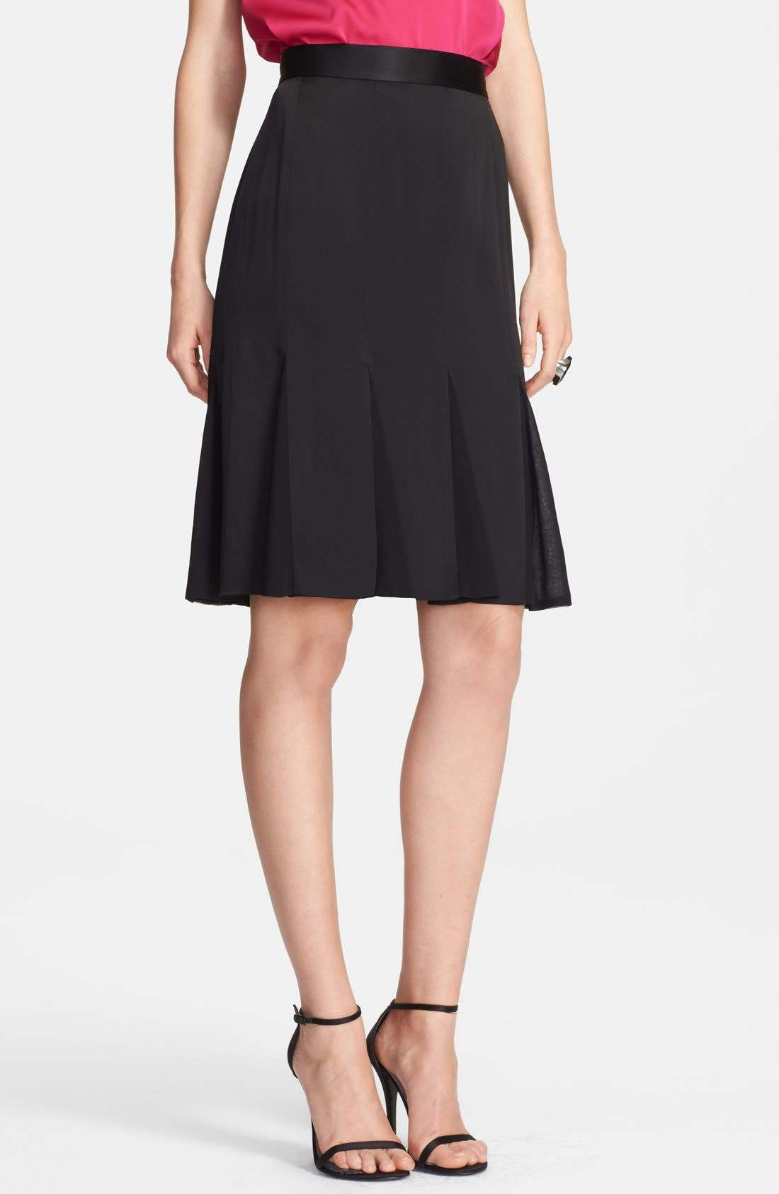 Alternate Image 1 Selected - St. John Collection Liquid Crepe & Chiffon Skirt