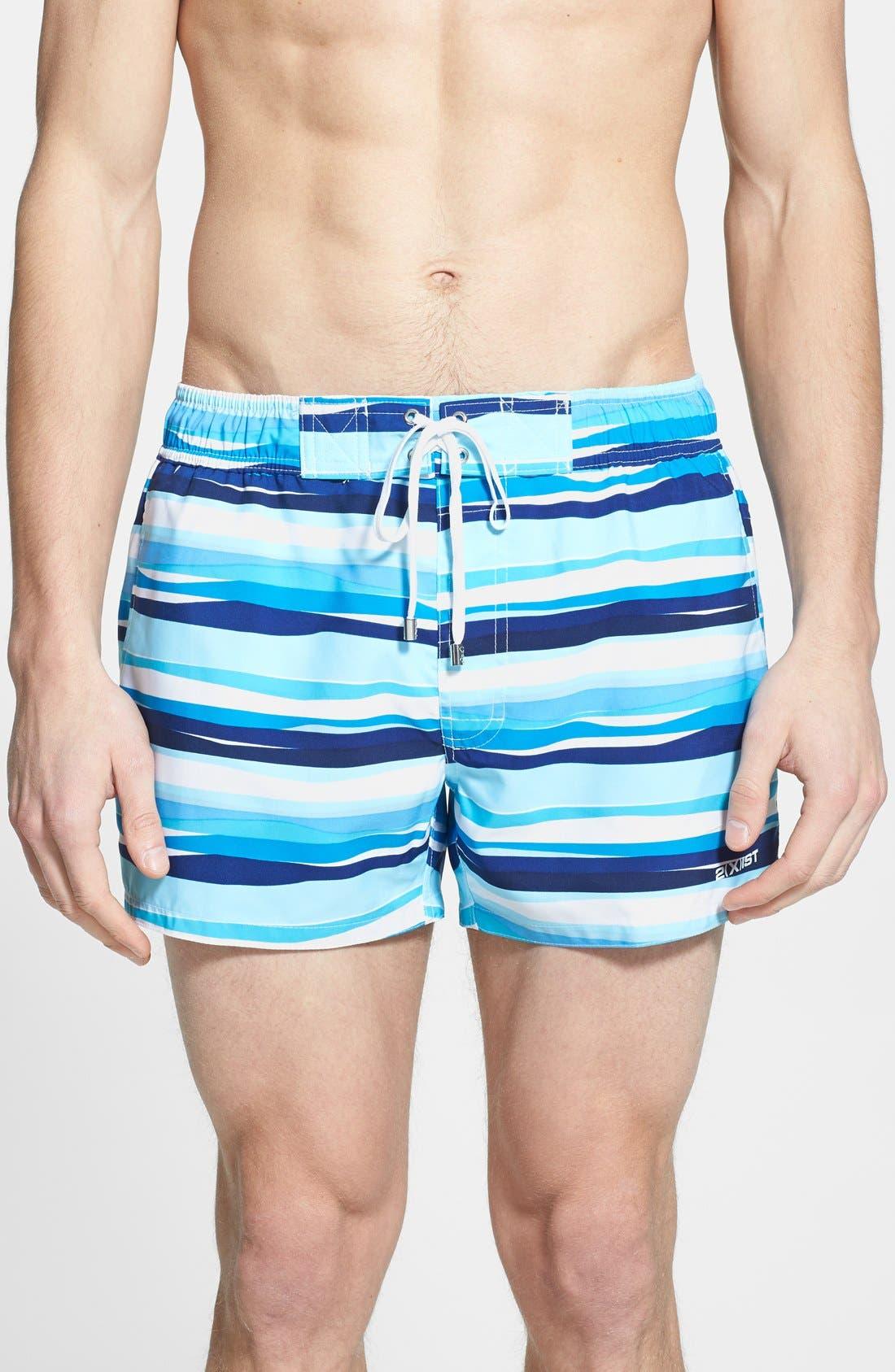 Main Image - 2(x)ist 'Ibiza' Stripe Swim Trunks