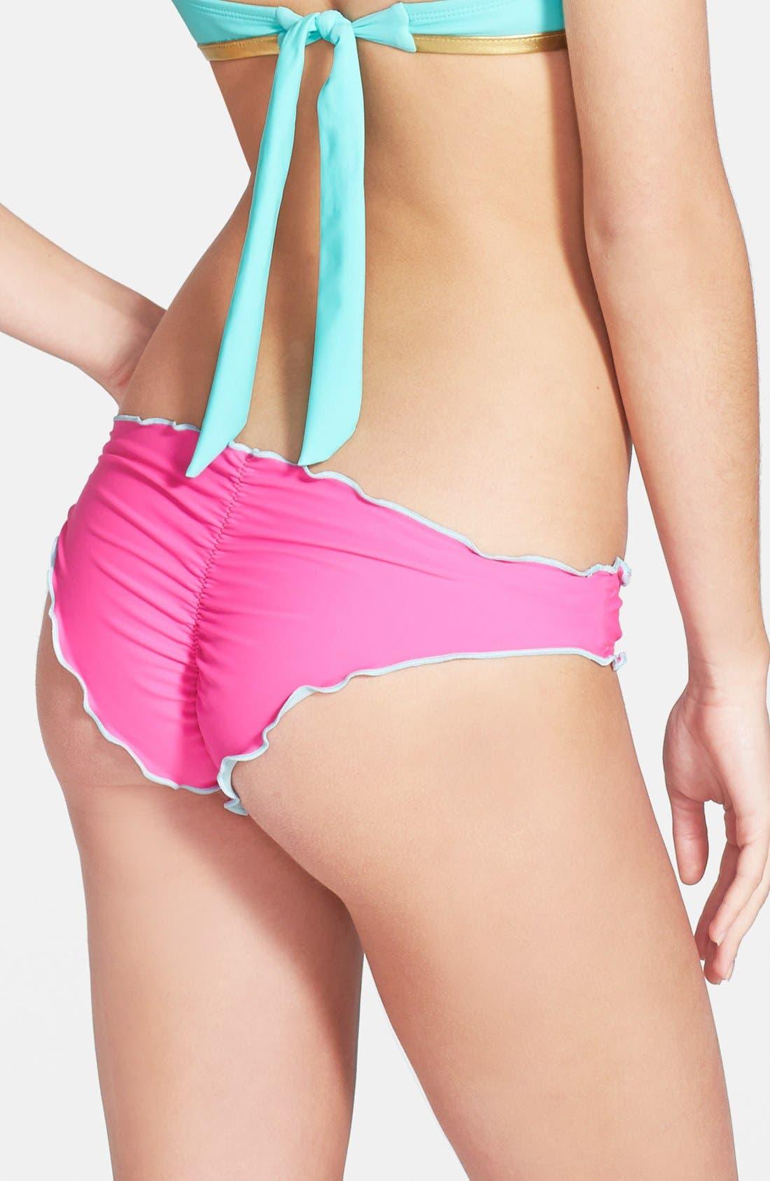 Alternate Image 1 Selected - The Bikini Lab 'Colorblock Marrow' Bikini Bottoms