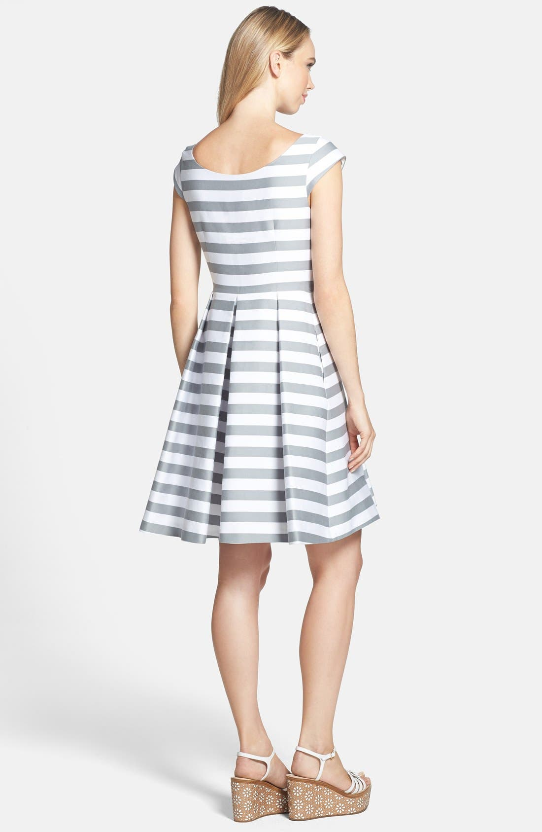 Alternate Image 2  - kate spade new york 'mariella' beaded cotton blend fit & flare dress