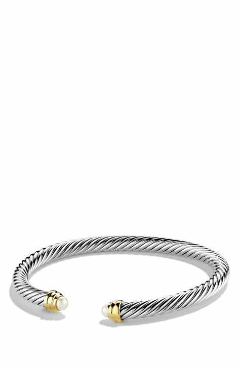 David Yurman Cable Clics Bracelet With Semiprecious Stones 14k Gold 5mm