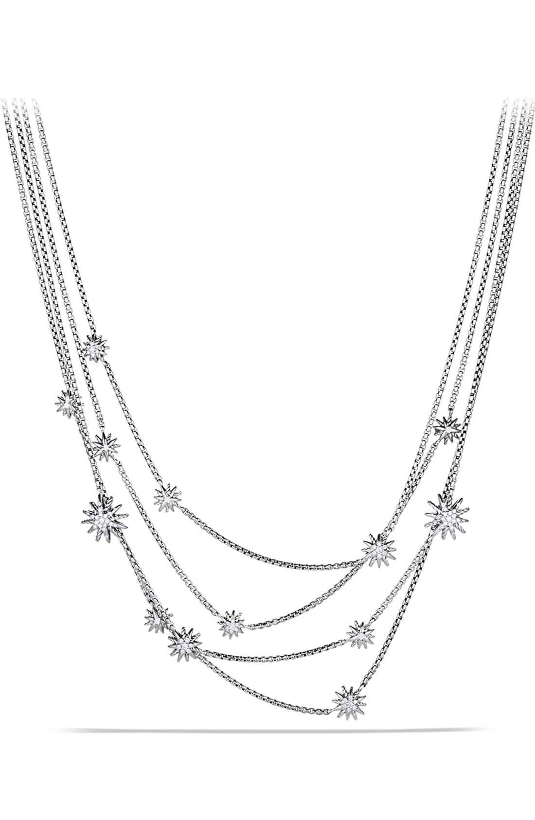 Alternate Image 1 Selected - David Yurman 'Starburst' Chain Necklace with Diamonds