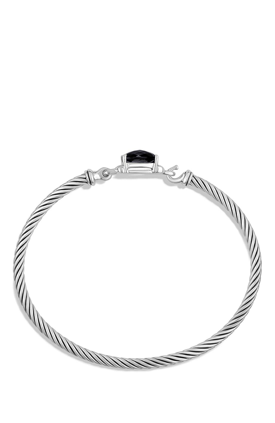 Alternate Image 2  - David Yurman 'Petite Wheaton' Bracelet with Semiprecious Stone & Diamonds
