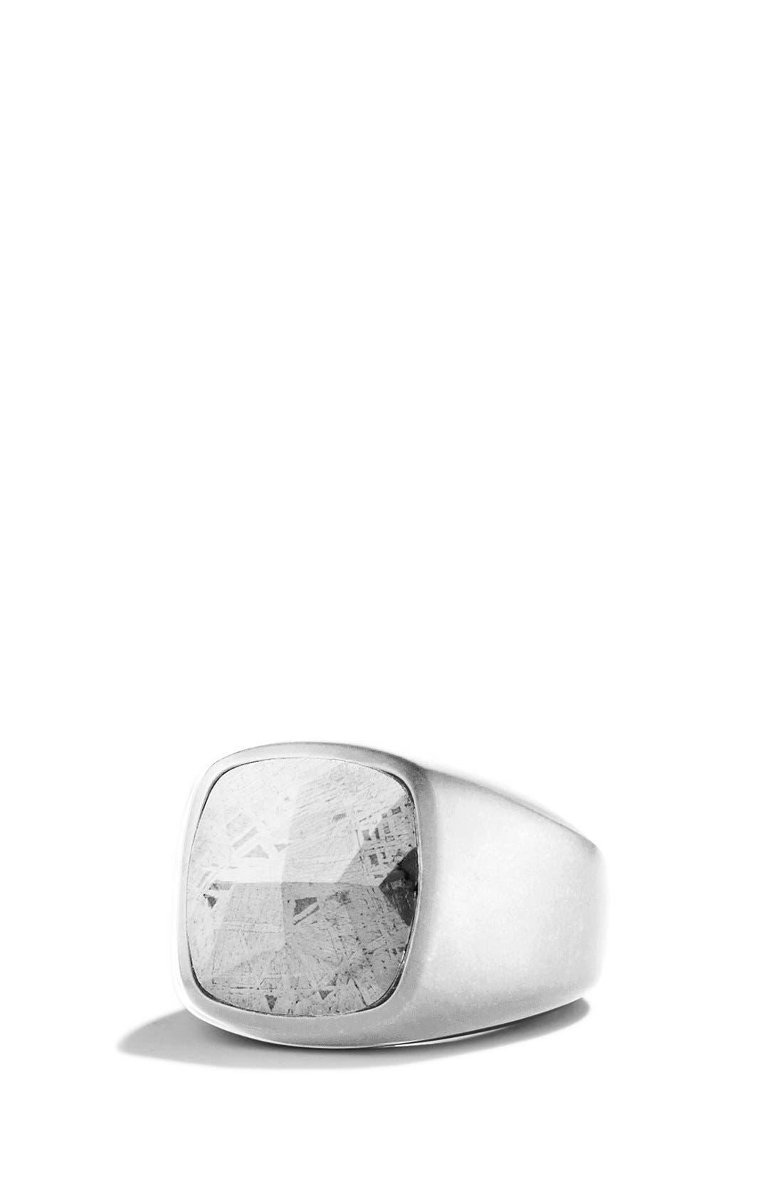 Signet Ring with Meteorite,                         Main,                         color, Meteorite
