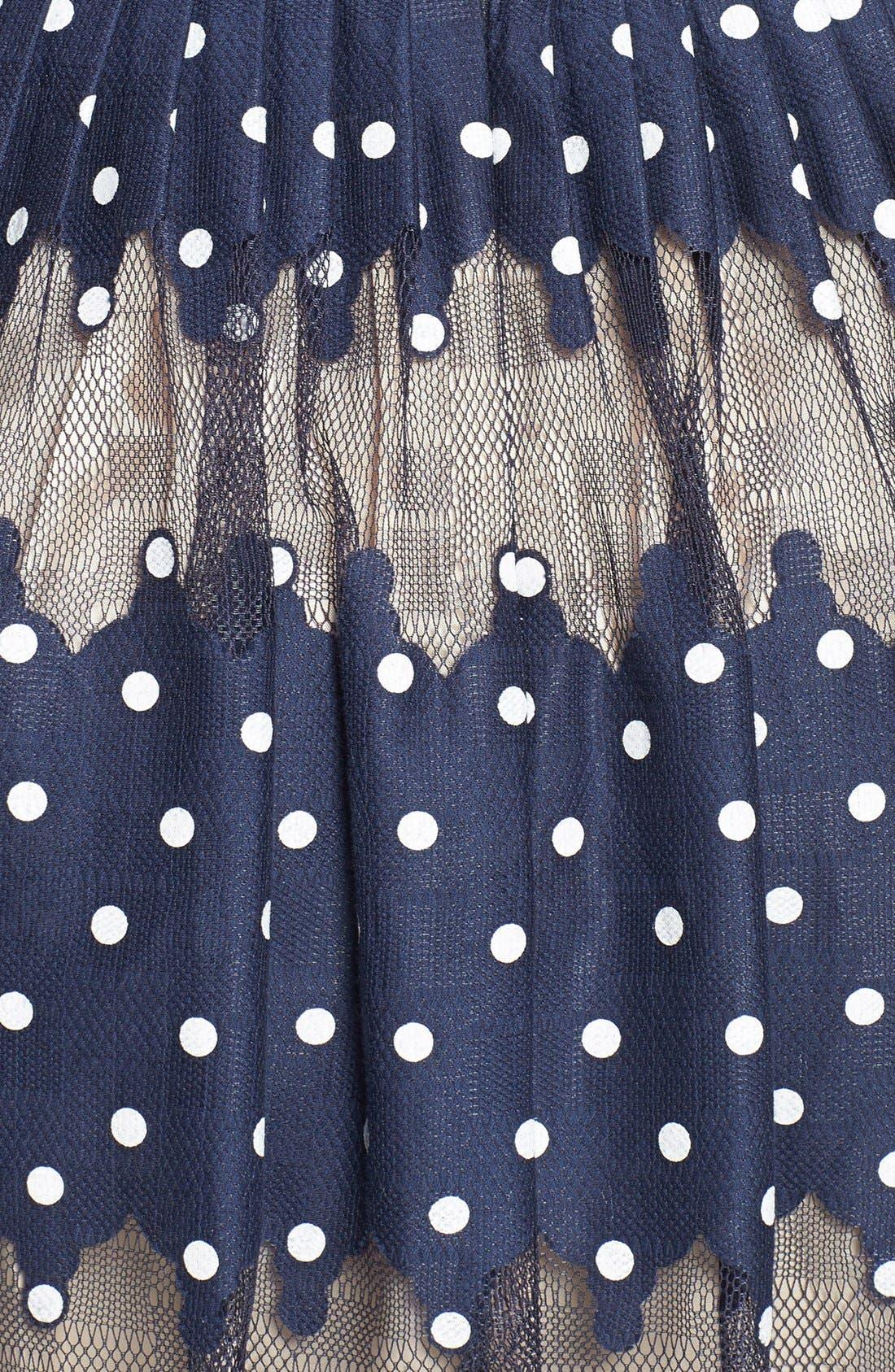Alternate Image 4  - Maggy London Burnout Dot Fit & Flare Dress