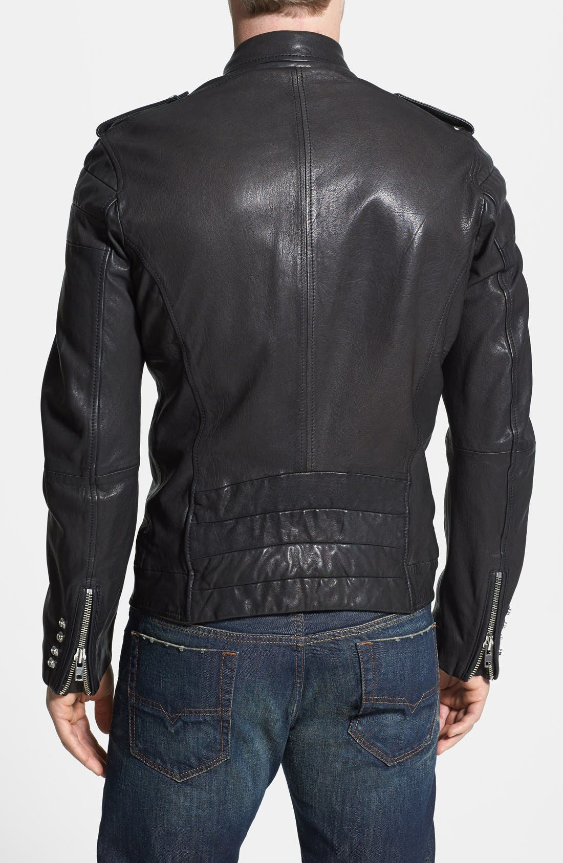 Alternate Image 2  - DIESEL® 'L-Illianne' Leather Jacket