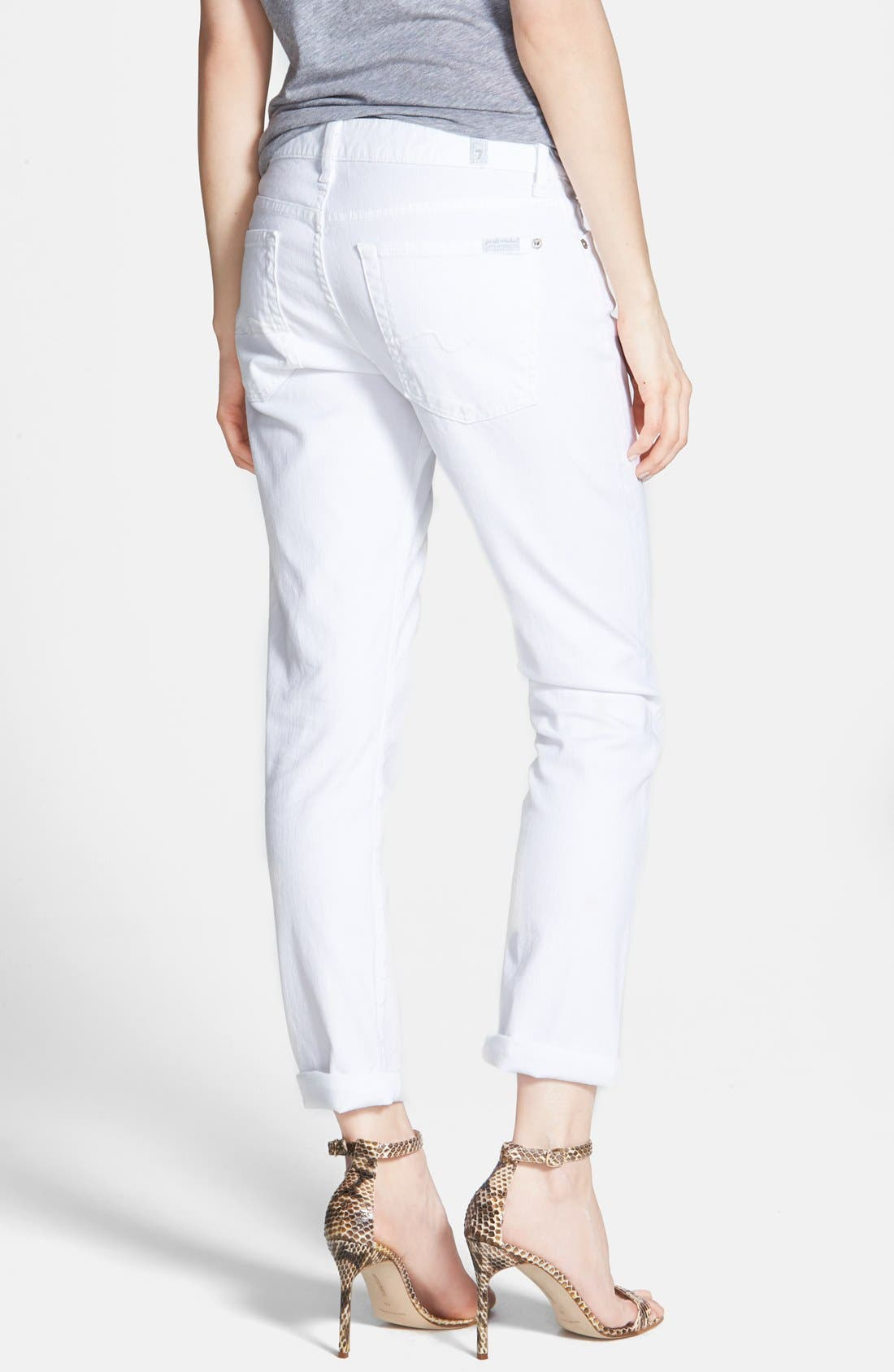 Alternate Image 2  - 7 For All Mankind® 'Joesphina' Straight Leg Jeans (Clean White)