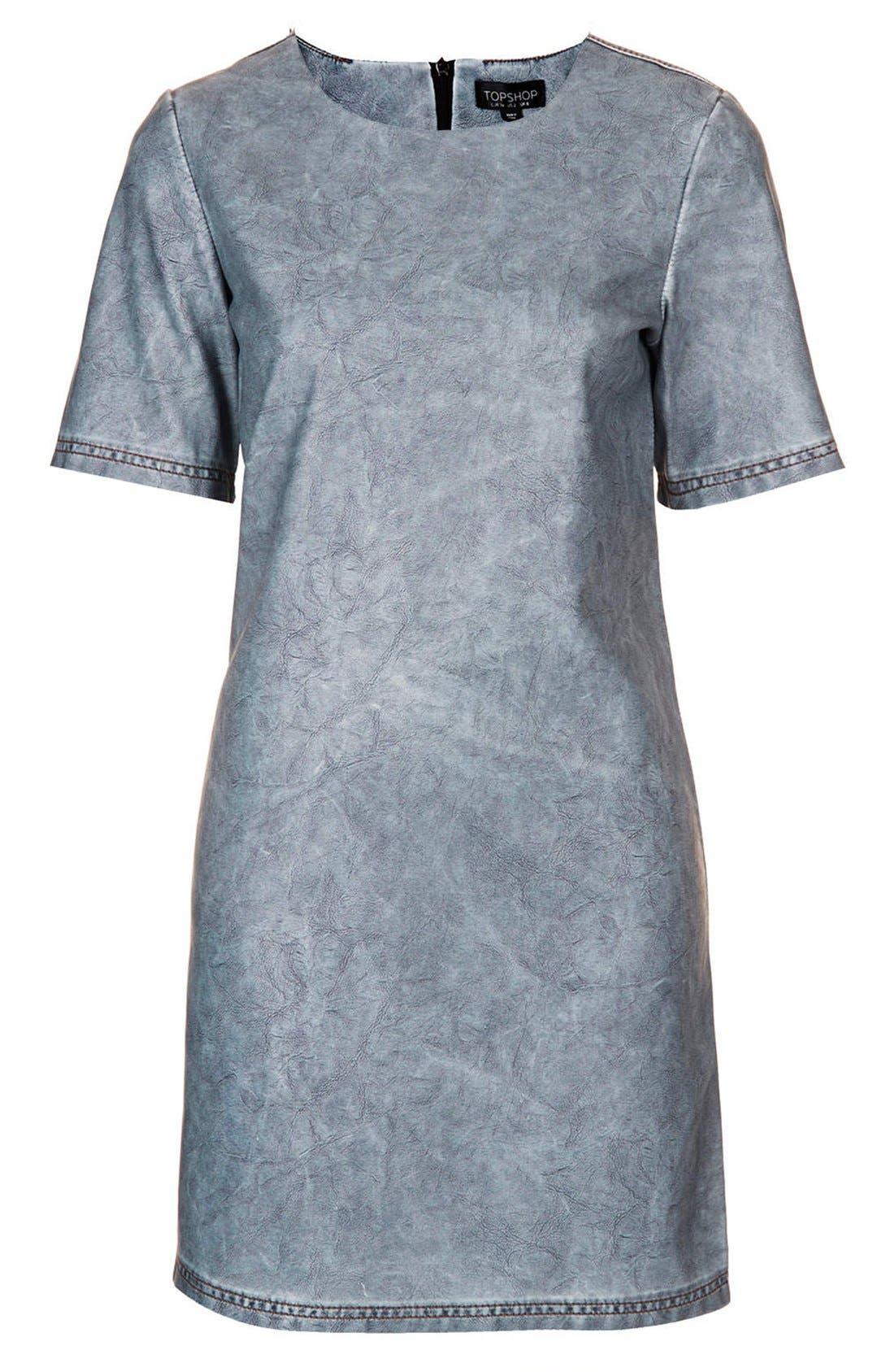 Alternate Image 3  - Topshop 'Daloma' Faux Leather Shift Dress