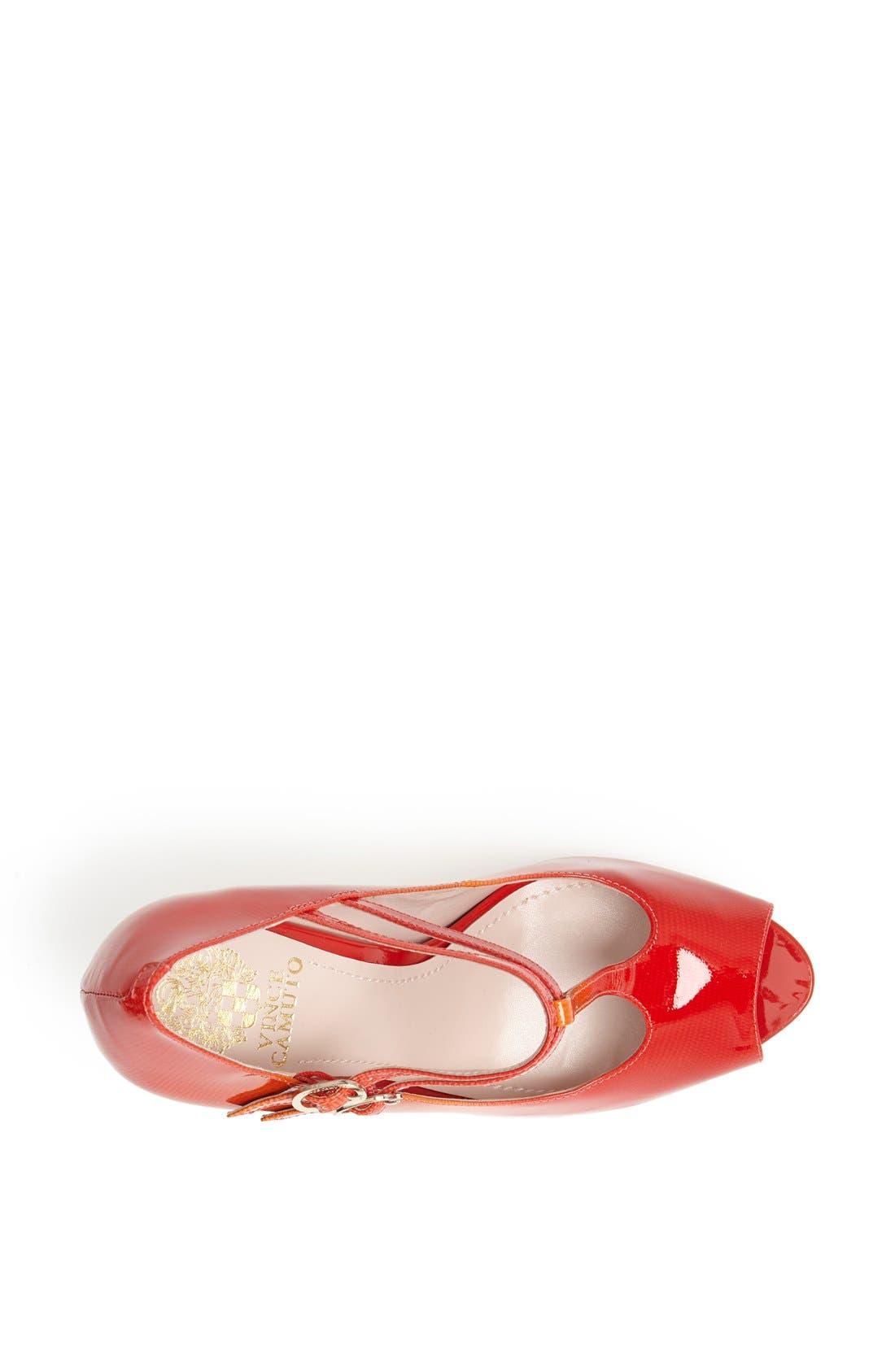 Alternate Image 3  - Vince Camuto 'Carlii' Patent Leather Peep Toe Pump