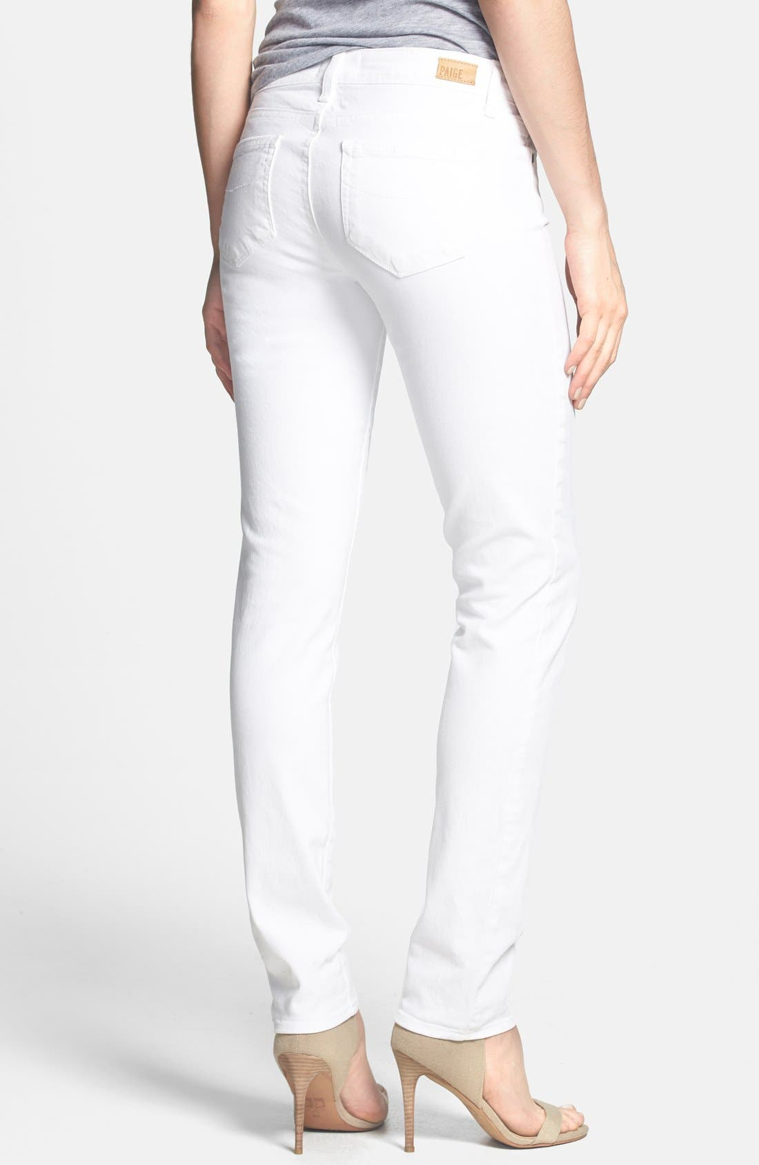 Alternate Image 2  - PAIGE 'Skyline' Skinny Jeans (Optic White)