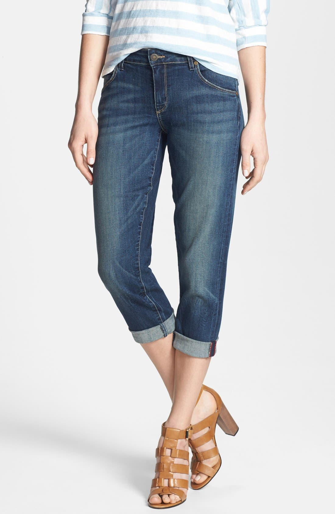 Alternate Image 1 Selected - CJ by Cookie Johnson 'Rejoice' Stretch Crop Boyfriend Jeans (Tops)