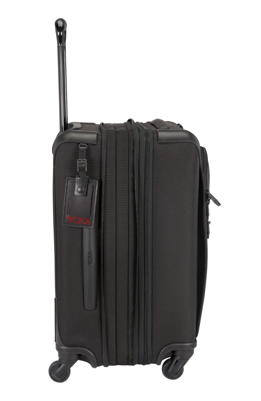 Alpha 2 International 22-Inch Carry-On,                             Alternate thumbnail 4, color,                             Black