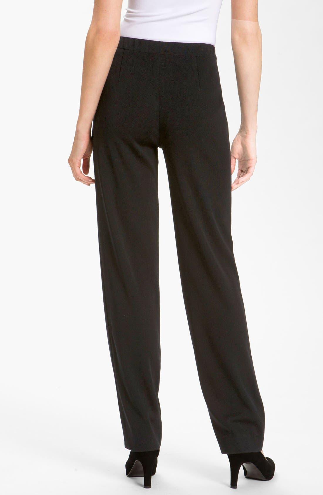 Alternate Image 2  - Misook Straight Leg Knit Pants (Petite)