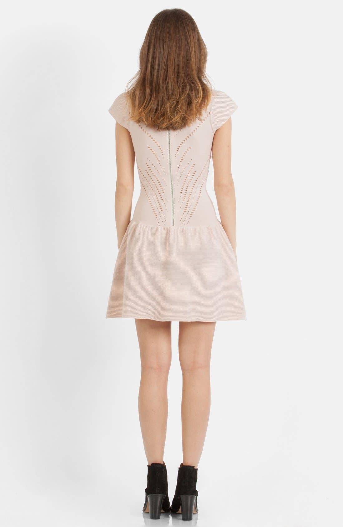 Alternate Image 2  - maje 'Maille' Cotton Blend Fit & Flare Dress