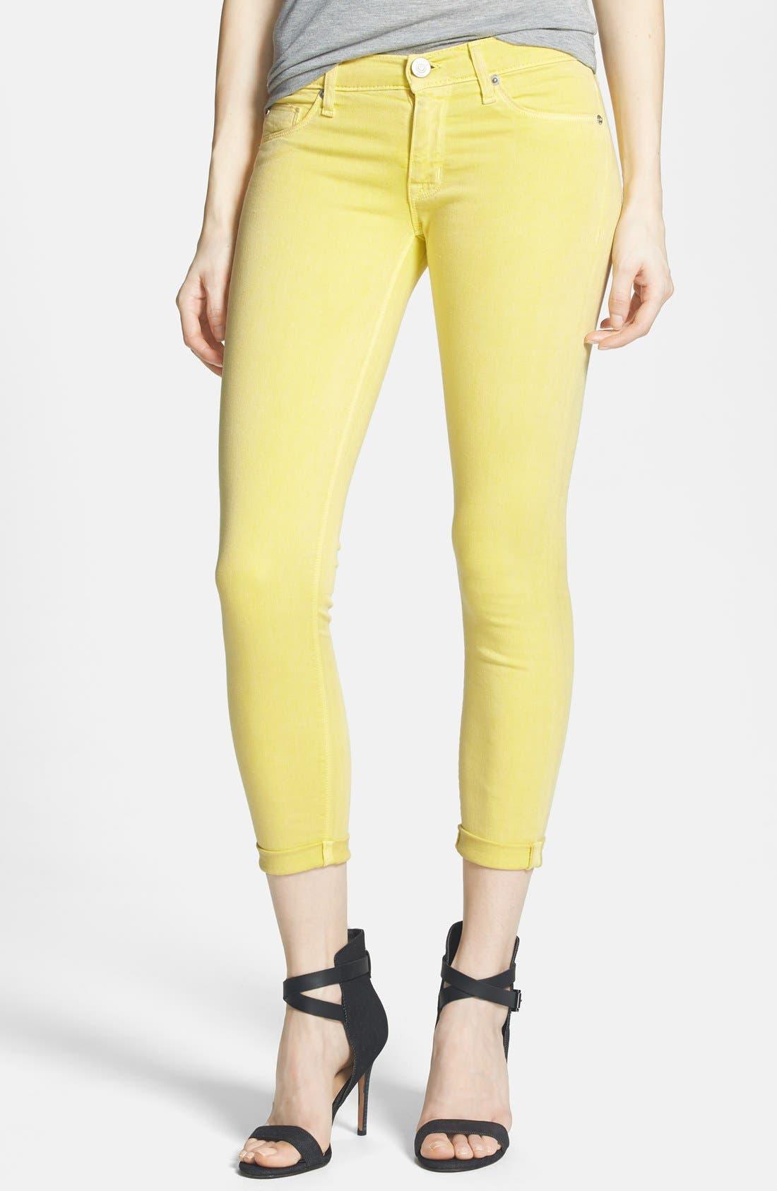 Main Image - Hudson Jeans Crop Super Skinny Jeans (Goldmine)