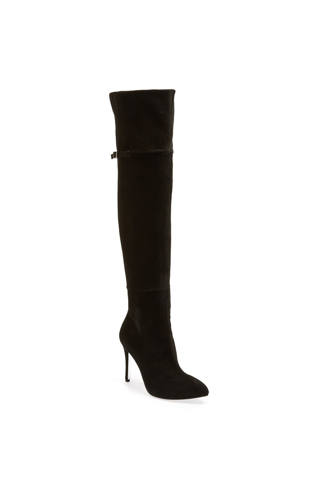 'Cassie' Over the Knee Boot,                             Main thumbnail 1, color,                             Black