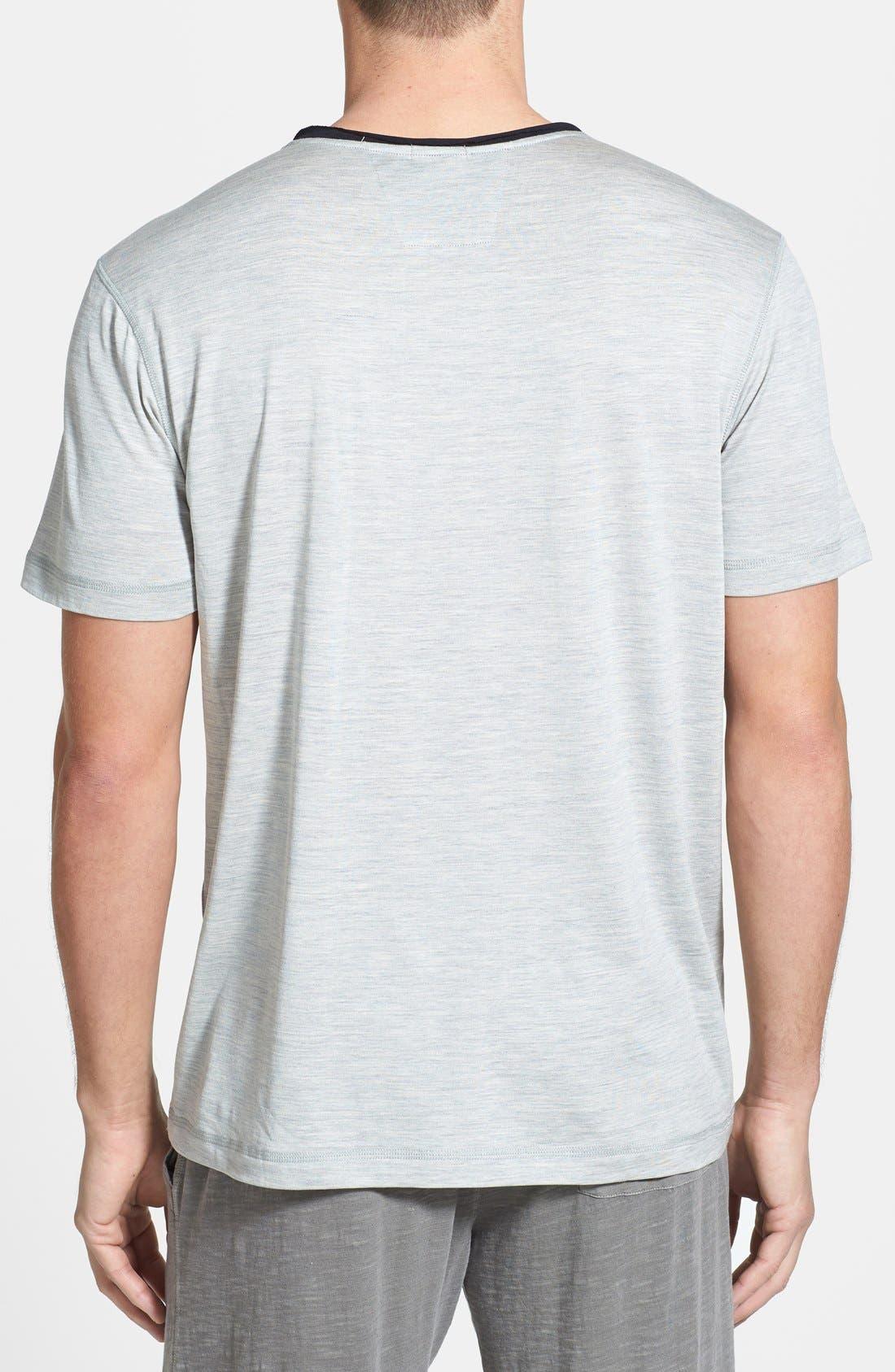 Alternate Image 2  - Daniel Buchler Silk & Cotton V-Neck T-Shirt