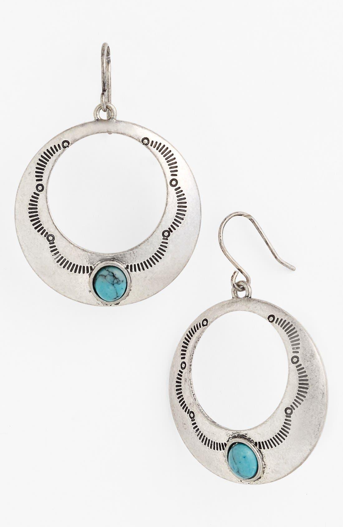Main Image - Lauren Ralph Lauren Frontal Hoop Earrings