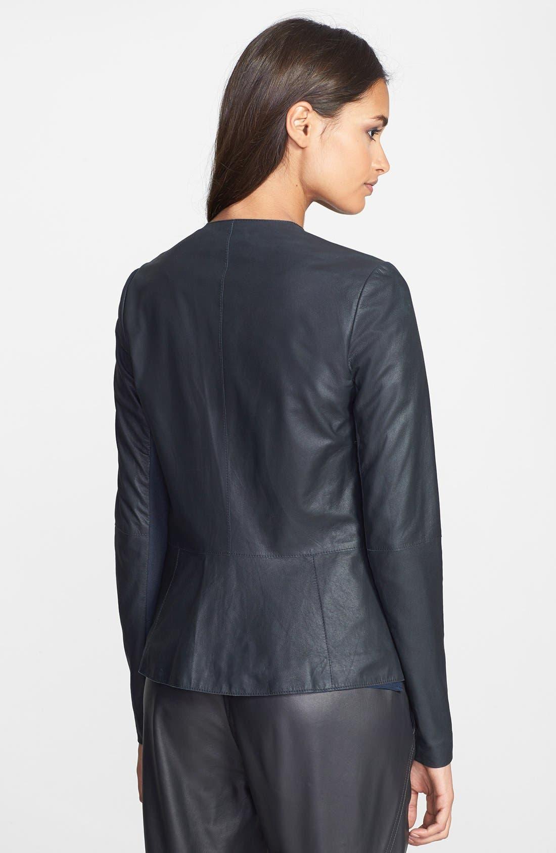 Alternate Image 2  - Vince 'Paper' Draped Leather Jacket