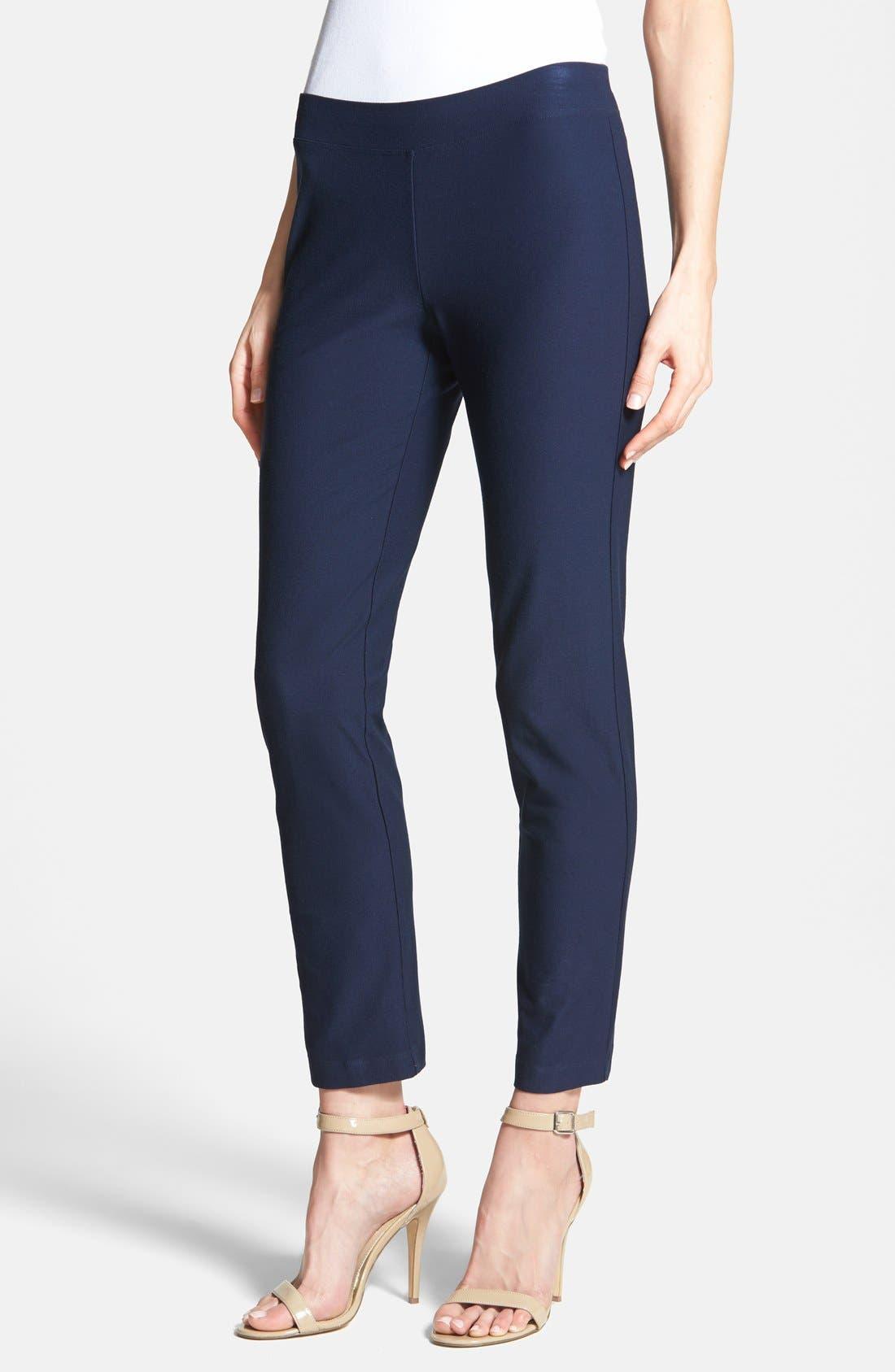 Alternate Image 1 Selected - Eileen Fisher Slim Ankle Pants