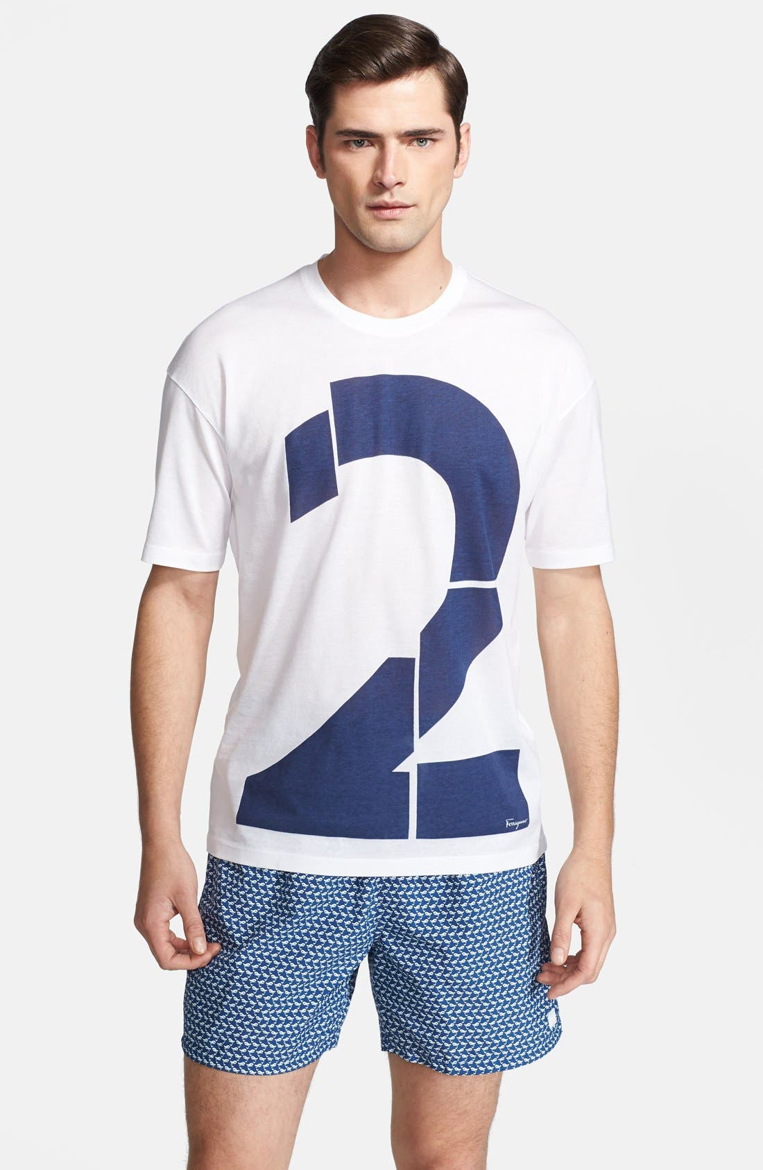 Alternate Image 1 Selected - Salvatore Ferragamo 'Number 2' Crewneck T-Shirt