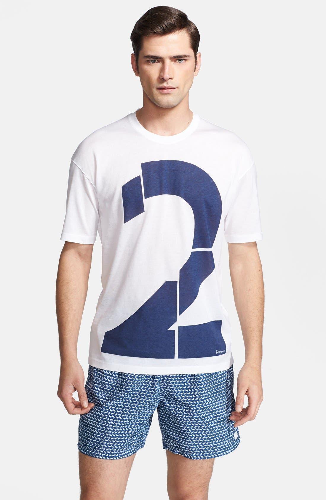 Main Image - Salvatore Ferragamo 'Number 2' Crewneck T-Shirt