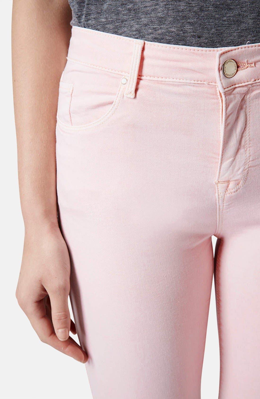 Alternate Image 4  - Topshop Moto 'Leigh' Skinny Jeans (Regular, Short & Long)