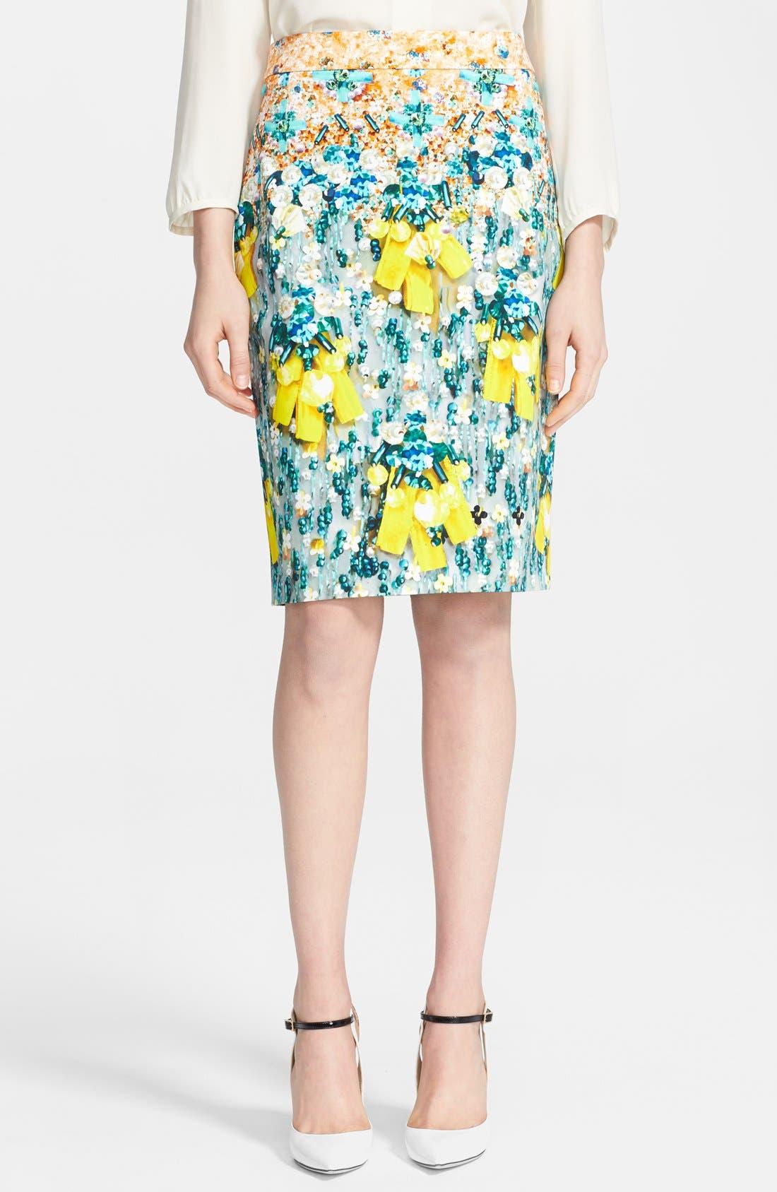 Alternate Image 1 Selected - Mary Katrantzou Print Pencil Skirt