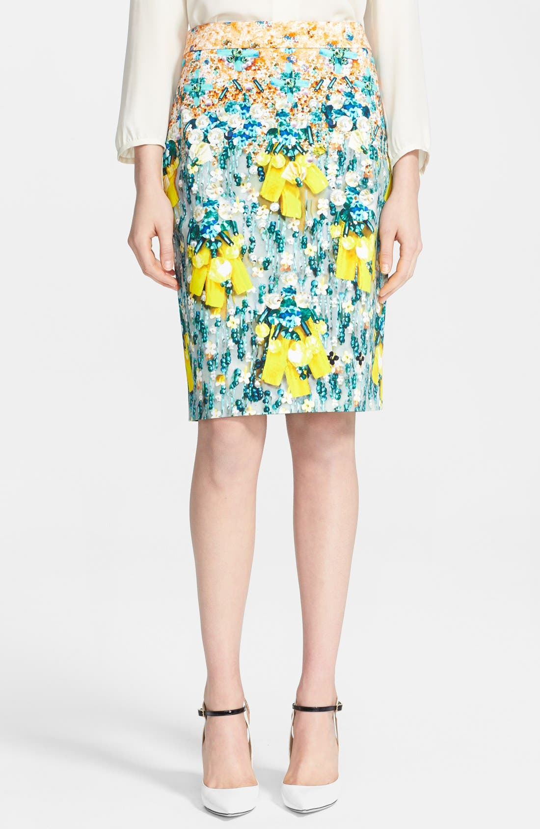 Main Image - Mary Katrantzou Print Pencil Skirt