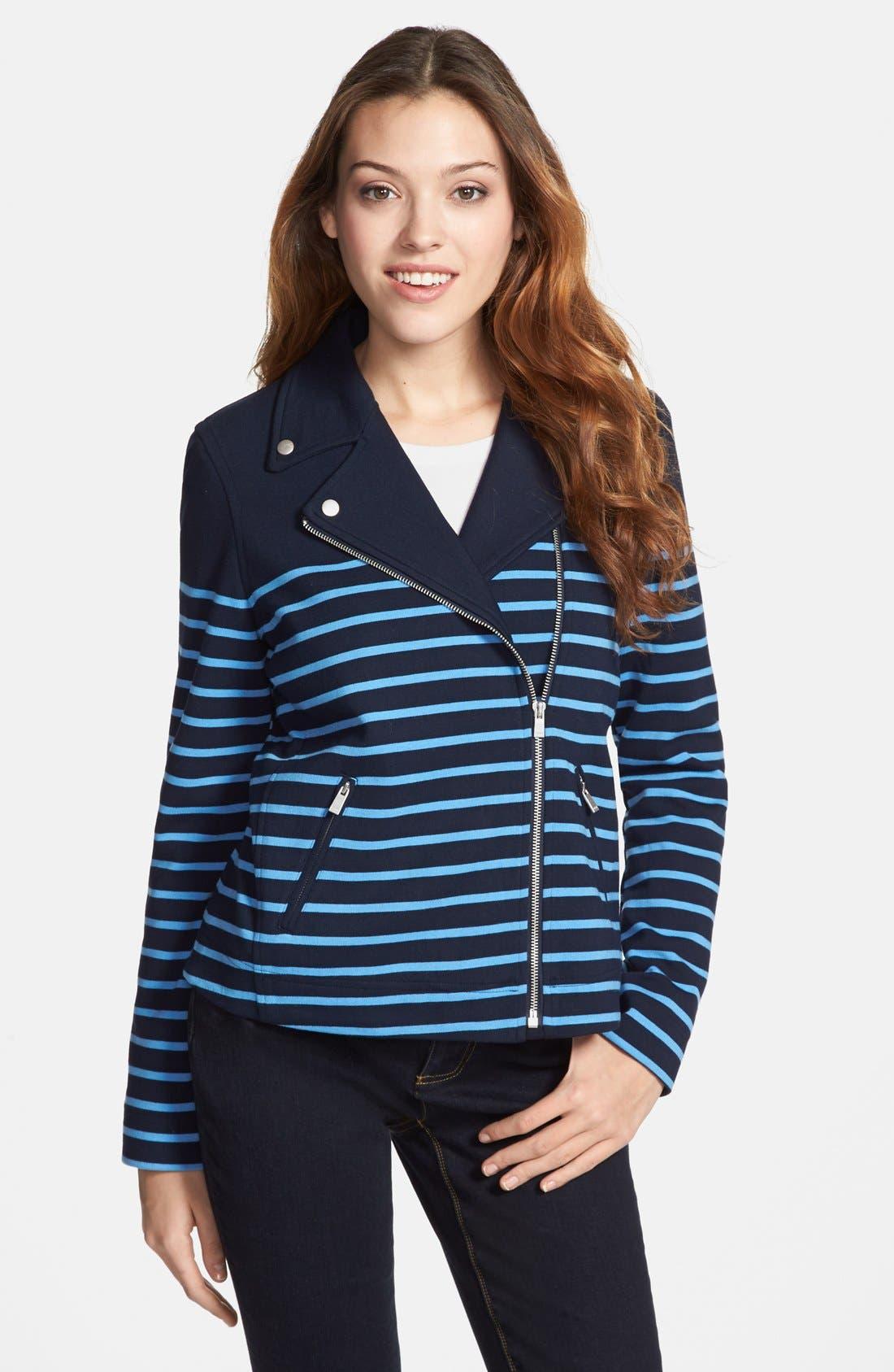 Alternate Image 1 Selected - NYDJ Stripe Ponte Knit Jacket