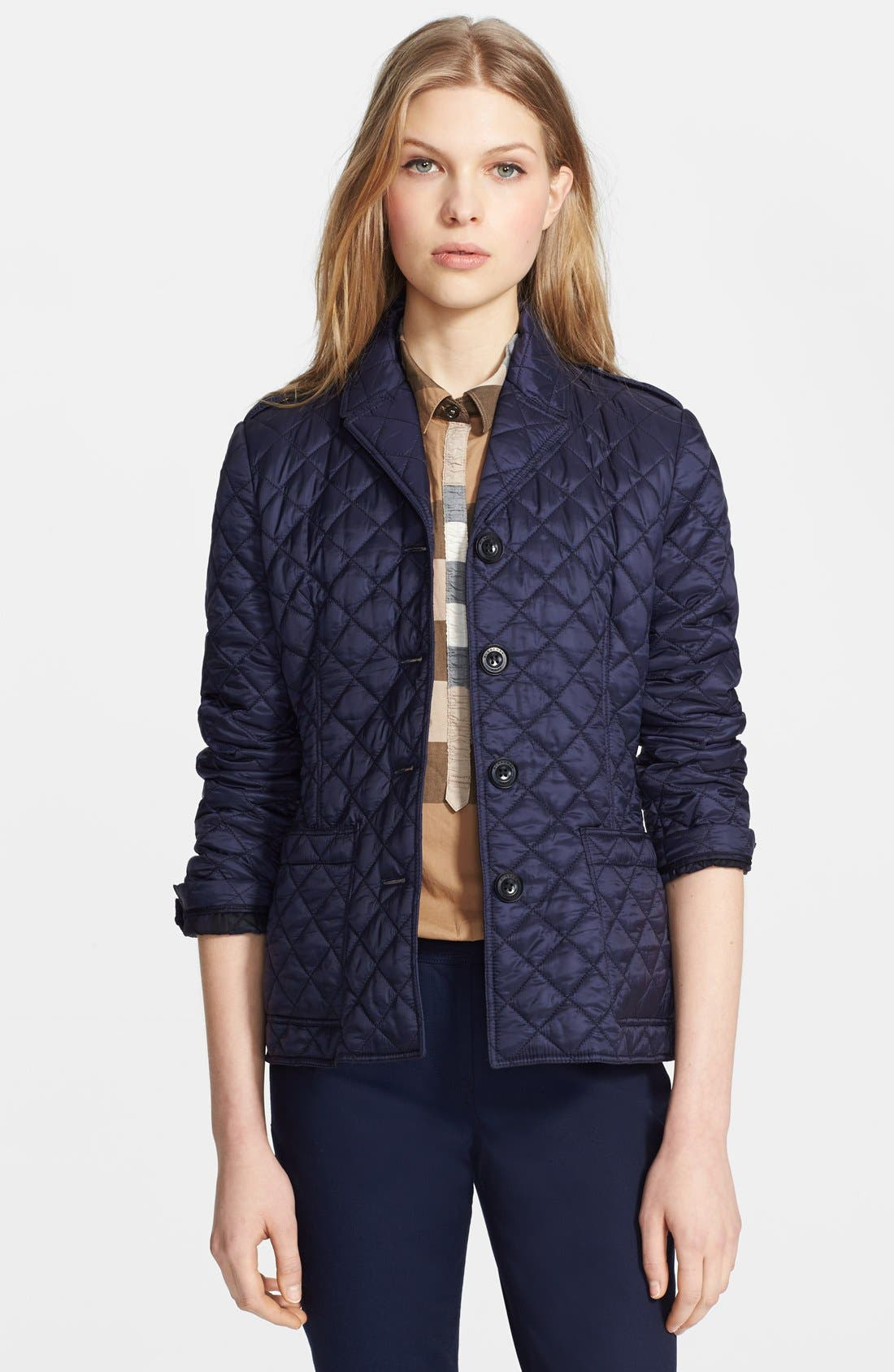 Alternate Image 1 Selected - Burberry Brit 'Caulfield' Quilted Jacket