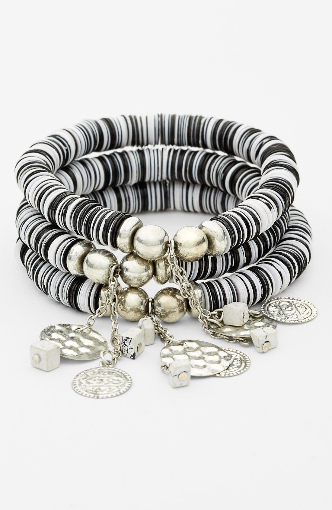 Main Image - Spring Street Sequin Stretch Bracelet (Set of 3)