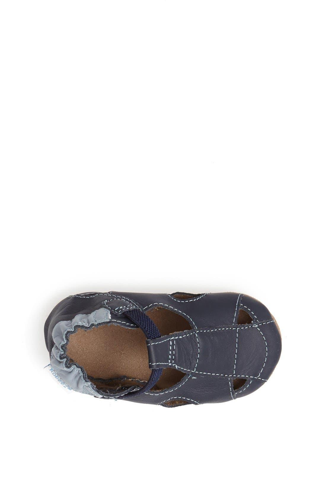 Alternate Image 3  - Robeez® Fisherman Sandal (Baby & Walker)