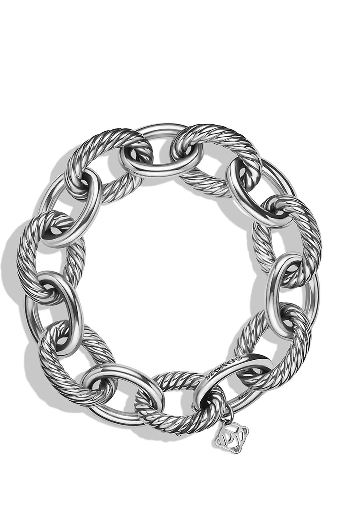 'Oval' Extra Large Link Bracelet,                             Alternate thumbnail 2, color,                             Silver