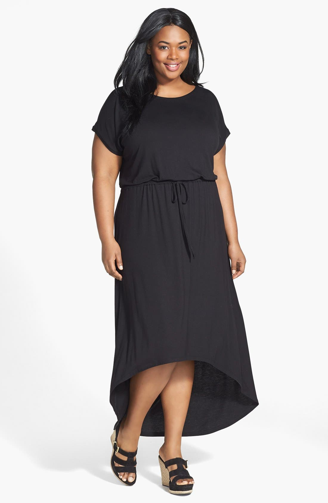 Alternate Image 1 Selected - Caslon® High/Low Maxi Dress (Plus Size)
