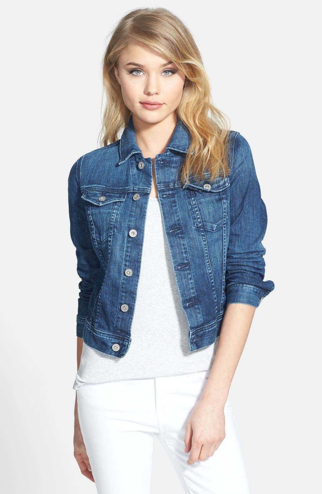 'Robyn' Denim Jacket,                             Main thumbnail 1, color,                             14 Years Surge