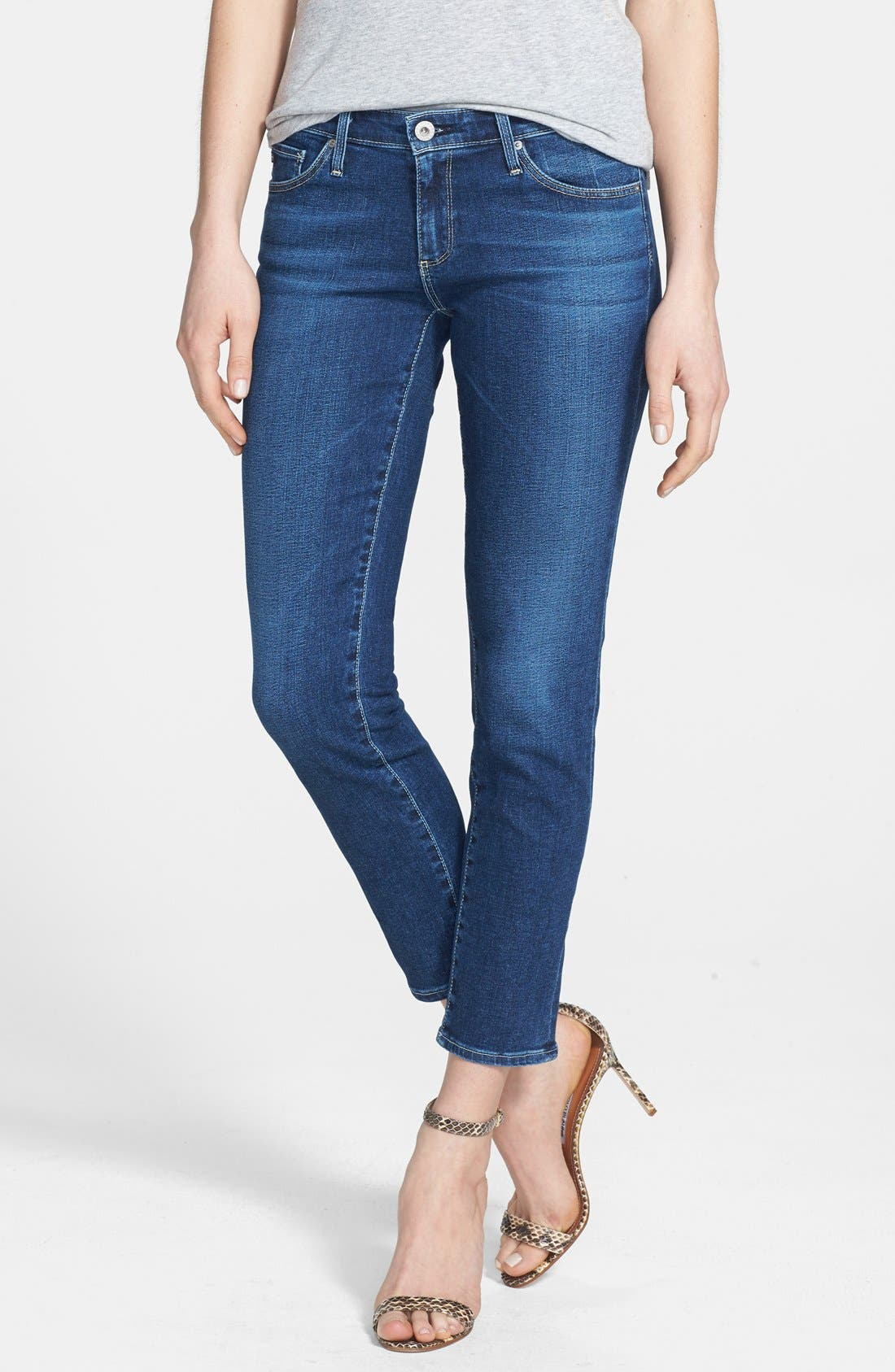 Alternate Image 1 Selected - AG Jeans 'The Stilt' Crop Skinny Stretch Jeans (Rio Rio)