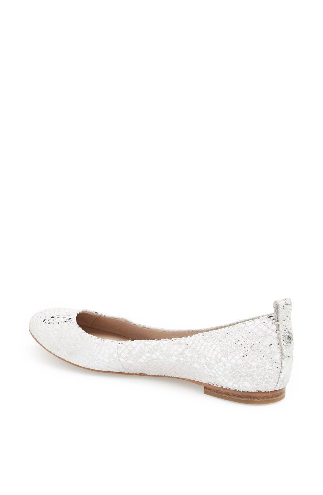 Alternate Image 2  - Vince Camuto 'Benningly' Snake Embossed Metallic Leather Ballet Flat