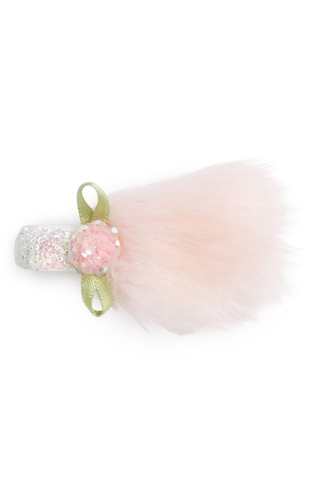 Alternate Image 2  - PLH Bows & Laces Glitter Hair Clip (Baby Girls & Toddler Girls)