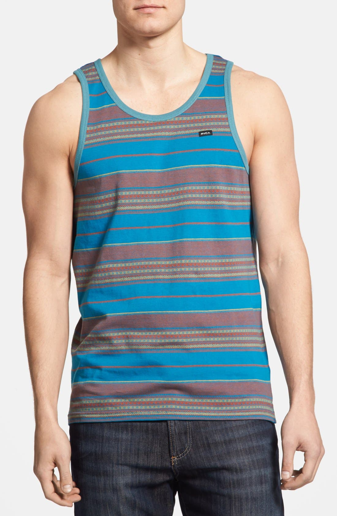 Alternate Image 1 Selected - RVCA 'Canyon' Stripe Tank Top
