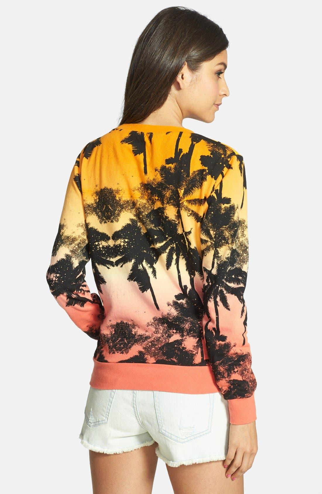 Alternate Image 2  - Volcom 'All Mine' Palm Print Pullover (Juniors)