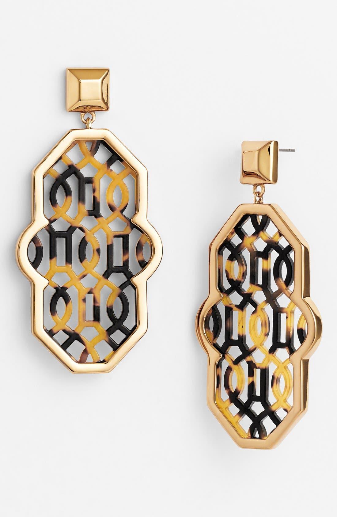 Main Image - Tory Burch 'Chantal' Perforated Lattice Earrings