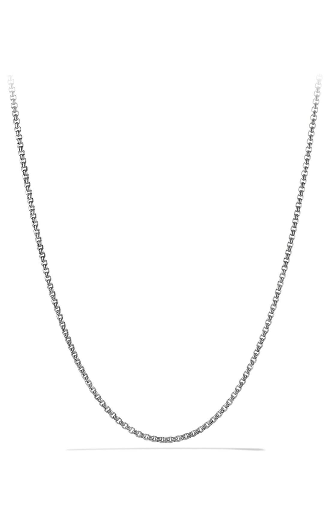 Small Box Chain Necklace,                             Main thumbnail 1, color,                             Titanium/ Silver