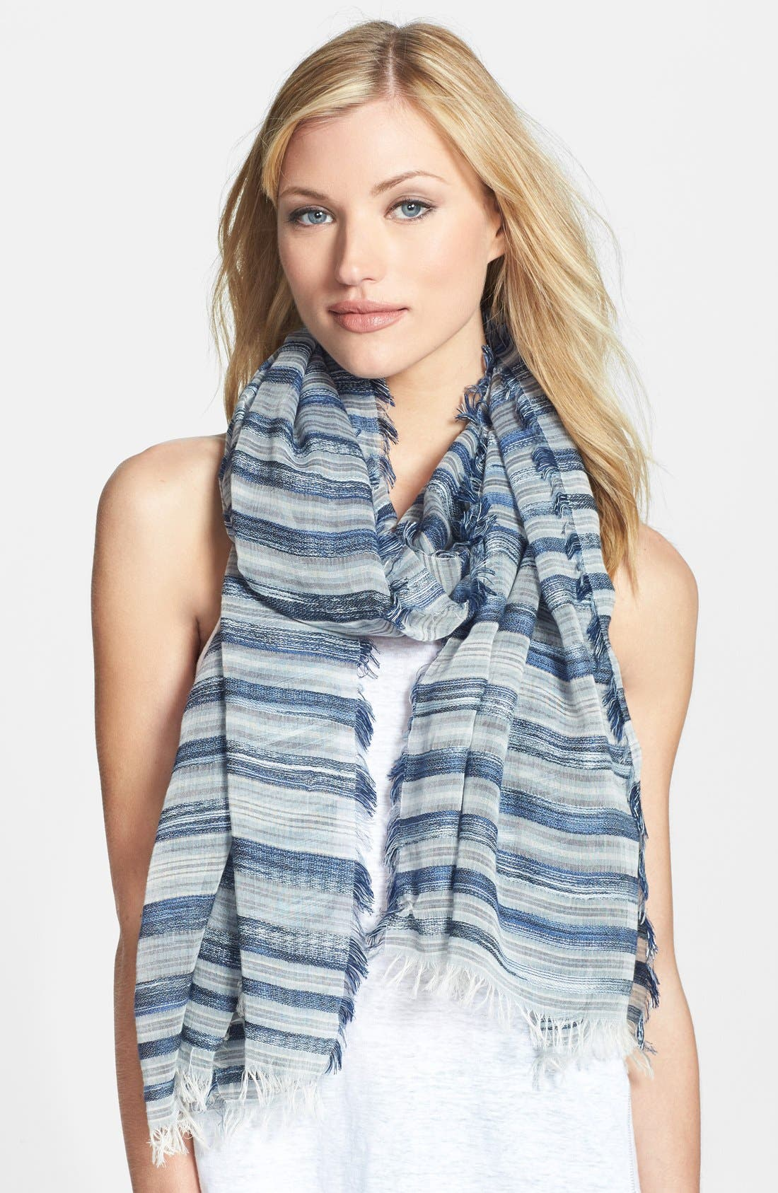 Alternate Image 1 Selected - Eileen Fisher Stripe Scarf