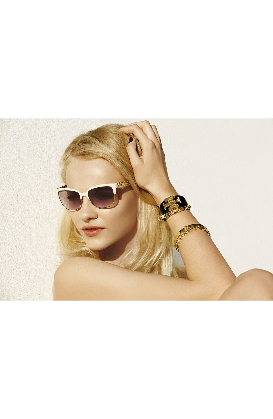Alternate Image 2  - Tory Burch Wide T-Hinge Leather Bracelet