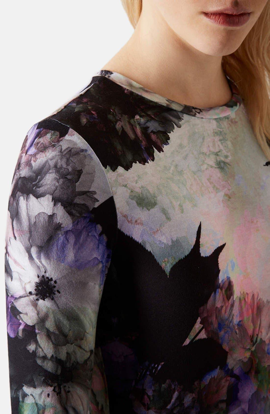 Alternate Image 4  - Topshop Floral Print Body-Con Dress (Petite)