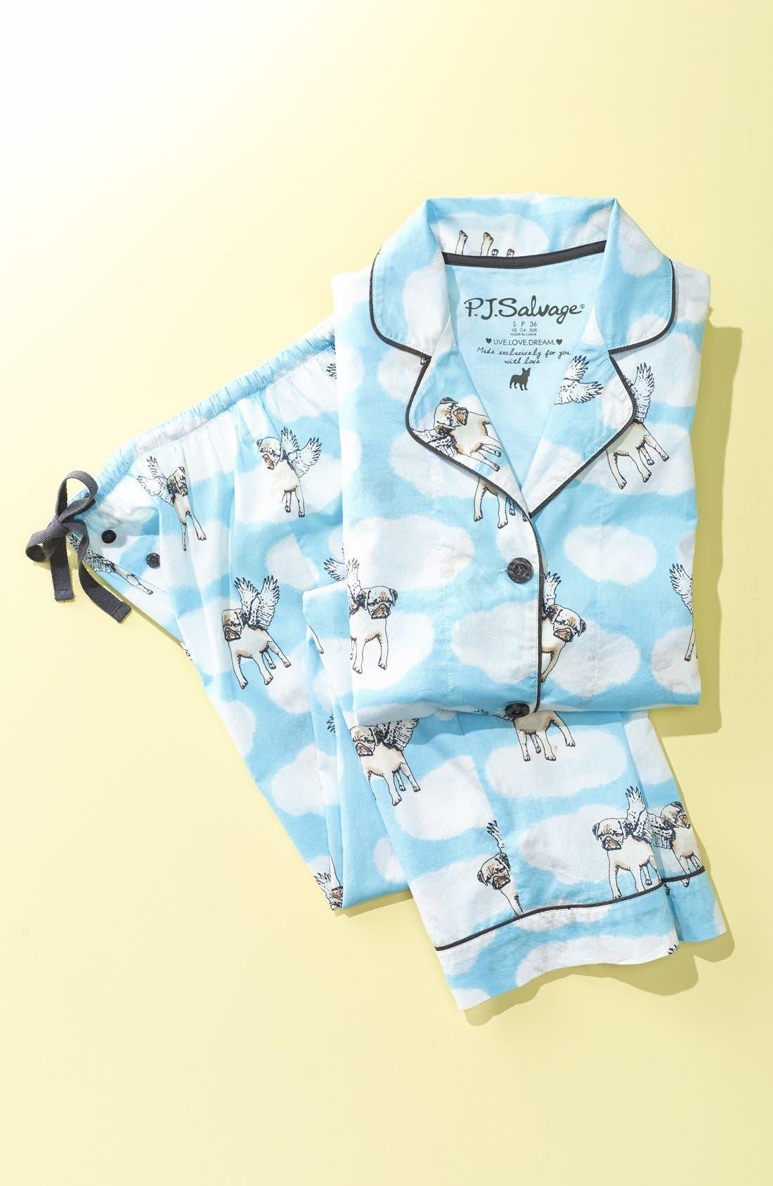 Alternate Image 4  - PJ Salvage 'Playful Prints' Cotton Voile Pajamas
