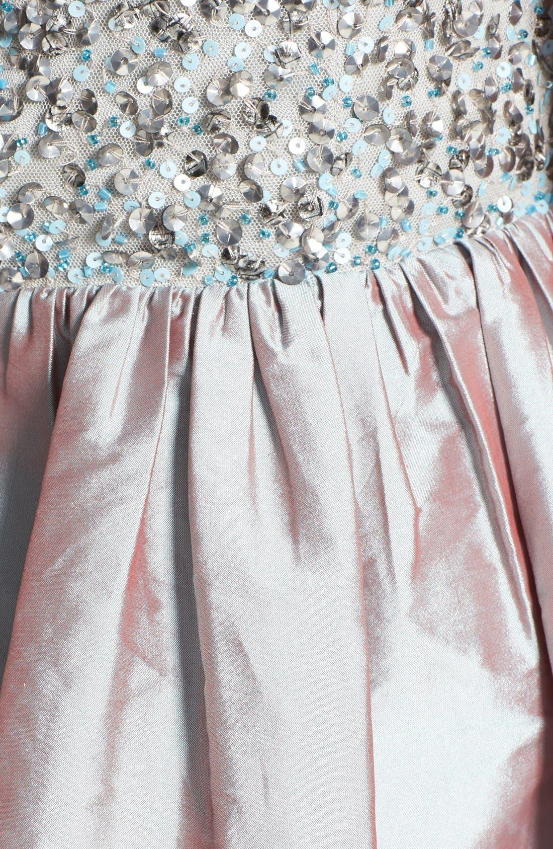 Alternate Image 3  - Adrianna Papell Embellished Bodice Strapless Taffeta Dress
