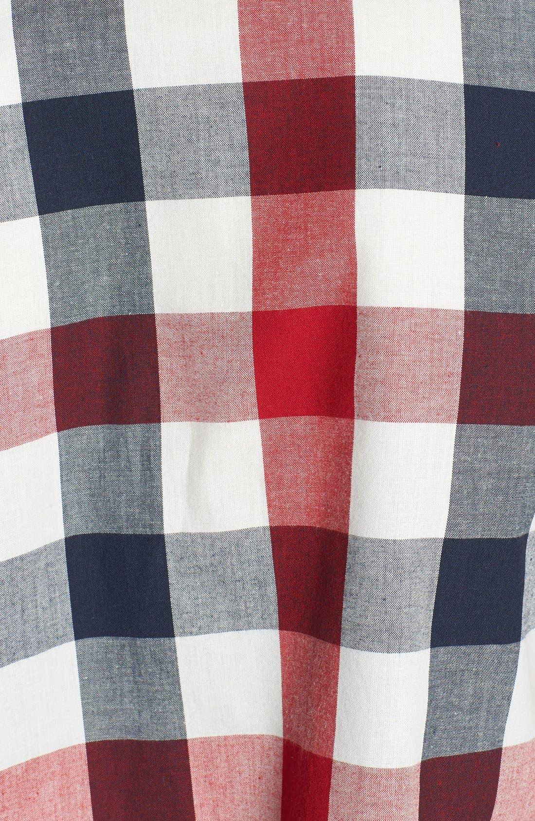 Alternate Image 3  - Haute Society Short Sleeve Crop Plaid Shirt (Juniors)