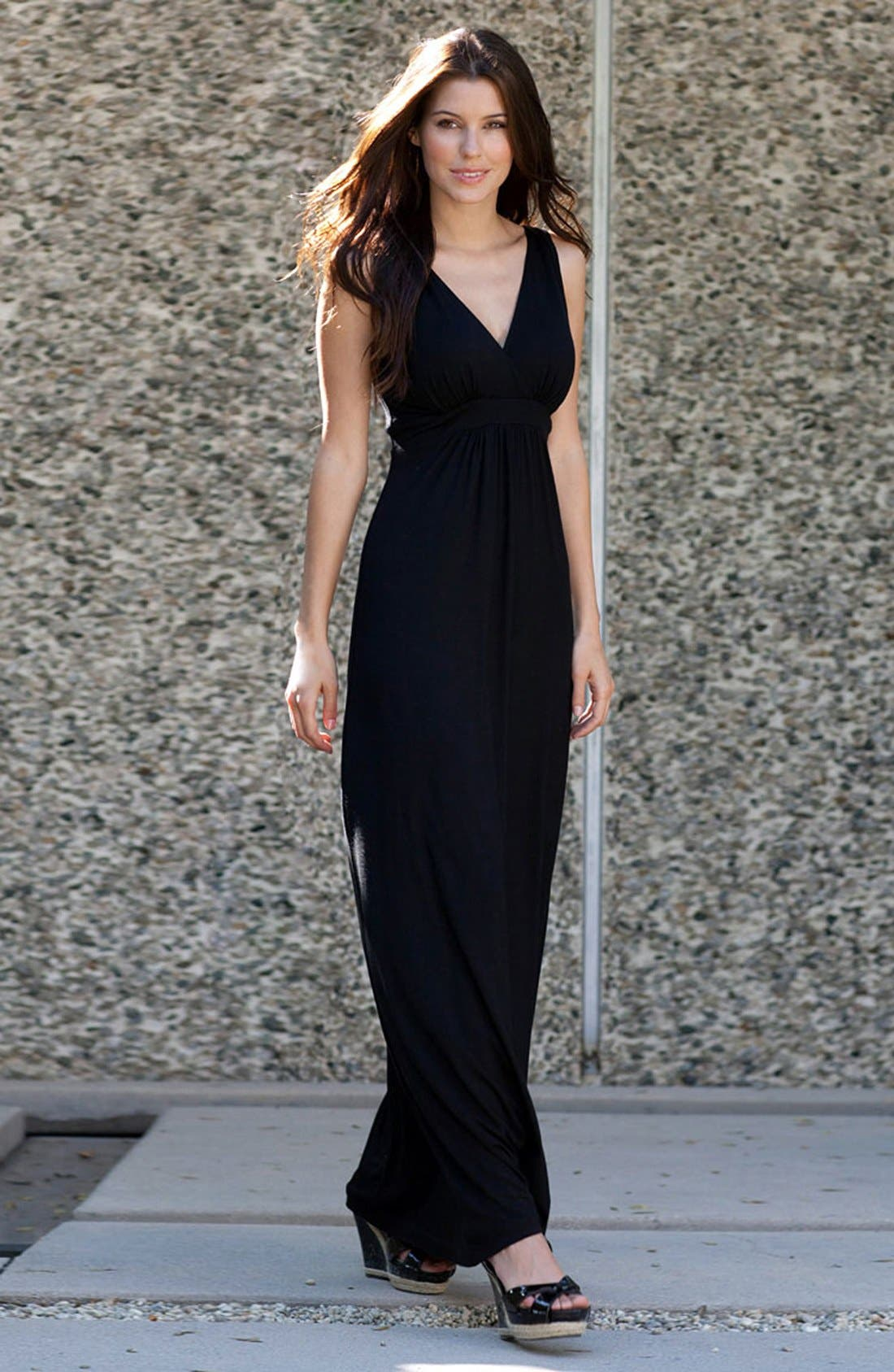 Alternate Image 4  - Karen Kane 'Julie' Surplice Jersey Maxi Dress